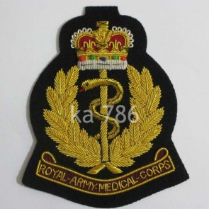 ROYAL ARMY MEDICAL CORPS GOLD WIRE