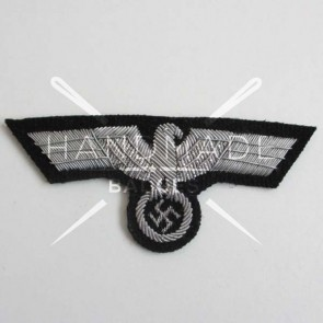 WW2 GERMAN OFFICER SS BREAST EAGLE BADGE ON BLACK BACKING
