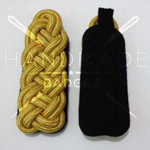WW2 GERMAN ARMY GOLD BRAID MAJOR SHOULDER BOARDS ON BLACK