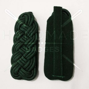 WW2 GERMAN ARMY GREEN BRAID MAJOR SHOULDER BOARDS ON GREEN