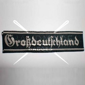 WW2 GERMAN ARMY GROSS DEUTSCHLAND SS WOVEN ARMBAND CUFF TITLE
