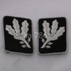 WW2 GERMAN ARMY GRUPPENFÜHRER SS COLLAR TABS