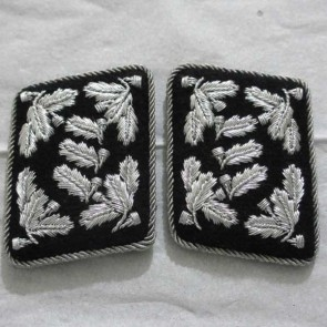 WW2 GERMAN ARMY LANDFORSTMEISTER COLONEL COLLAR TABS