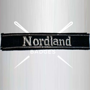WW2 GERMAN ARMY NORDLAND SS ARMBAND CUFF TITLE