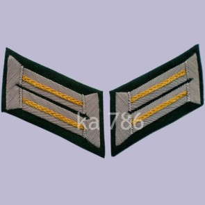 WW2 GERMAN ARMY OFFICER CAVALRY WEHRMACHT HEER COLLAR TABS