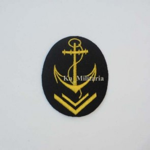 WW2 GERMAN KRIEGSMARINE CANDIDATE OFFICER LINE BADGE ON NAVY BLUE FELT
