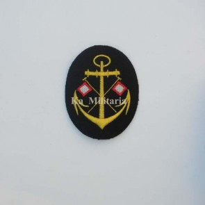 WW2 GERMAN KRIEGSMARINE SIGNALMAN BADGE ON NAVY BLUE FELT