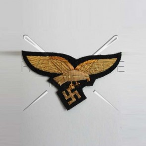 WW2 GERMAN LUFTWAFFE GENERAL BREAST EAGLE GOLDEN BULLION WIRE